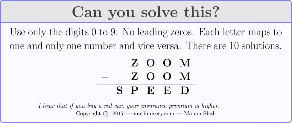 ZOOM + ZOOM  = SPEED
