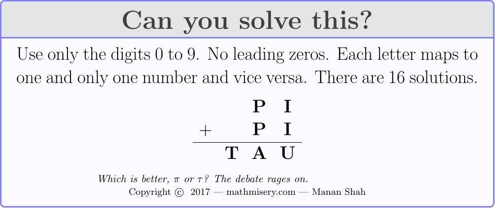 PI + PI  = TAU