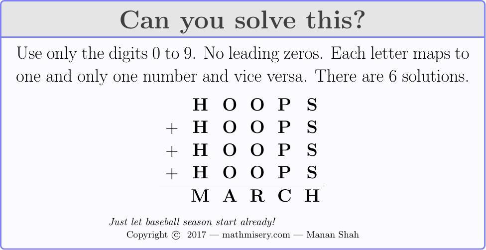 HOOPS + HOOPS + HOOPS + HOOPS  = MARCH