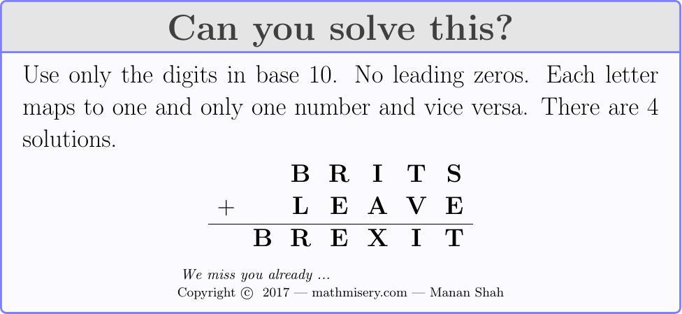 BRITS + LEAVE  = BREXIT